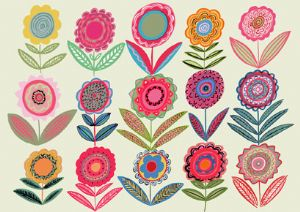 Cut Flower Hangings-Large Scale Fabric